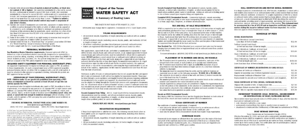 Texas Water Safety Act